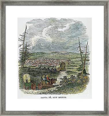 Santa Fe, Nm: Wagon Train Framed Print