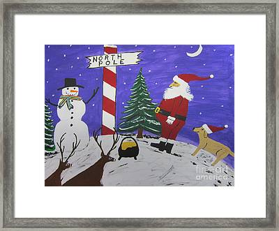 Santa Finds Pot Of Gold Framed Print by Jeffrey Koss