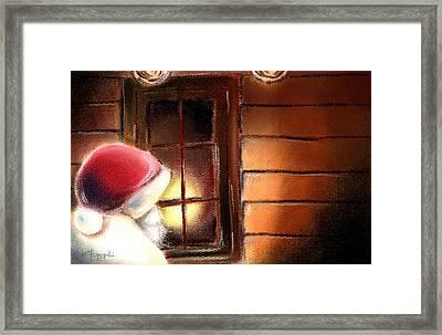 Santa Framed Print by Hiroko Sakai