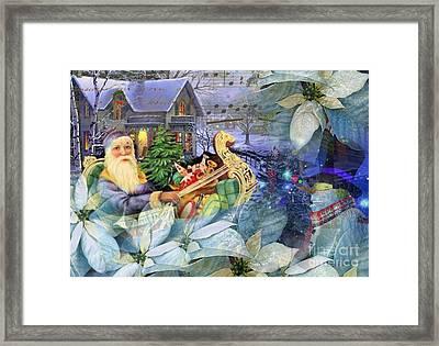 Santa In Blue Framed Print