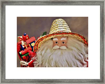 Santa Is A Gardener Framed Print