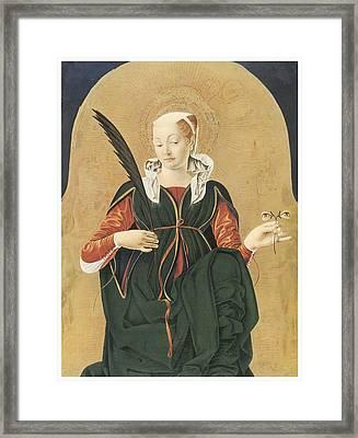 Santa Lucia Framed Print by Francesco Del Cossa