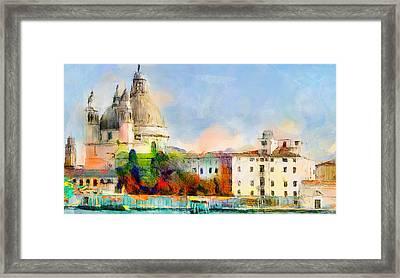 Santa Maria De La Salute Framed Print
