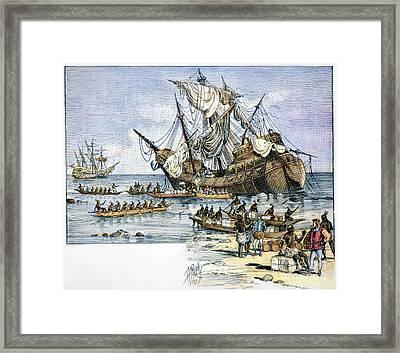 Santa Maria: Wreck, 1492 Framed Print