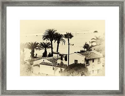 Santa Monica Beach House Framed Print by John Rizzuto