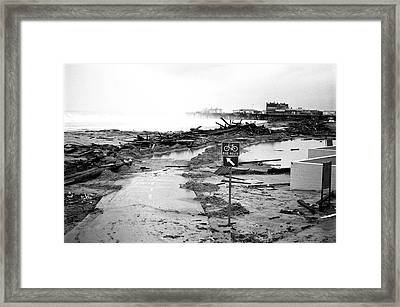 Santa Monica Beach Storm Framed Print