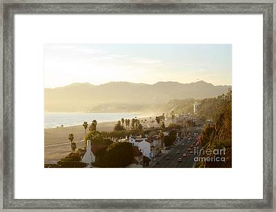 Santa Monica Beach Framed Print by Yulia Bekar