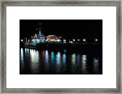 Santa Monica Pier After Dark Framed Print by Yulia