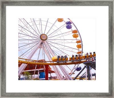 Santa Monica Pier II Framed Print by Rust Dill