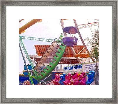 Santa Monica Pier  Framed Print by Rust Dill