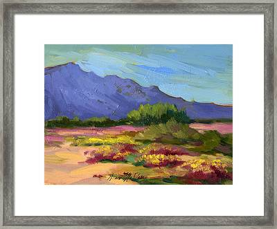 Santa Rosa Mountains In Spring Framed Print by Diane McClary