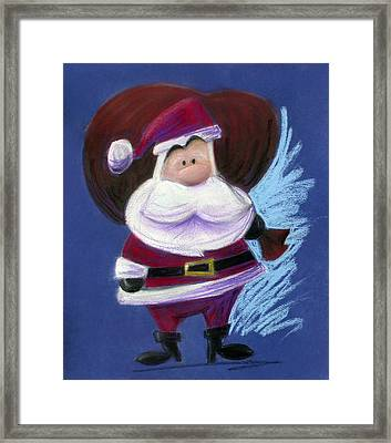 Santa With His Pack Framed Print by Andrew Fling