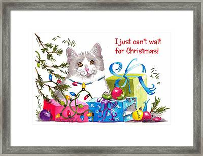 Santa's Helper Greetings Framed Print