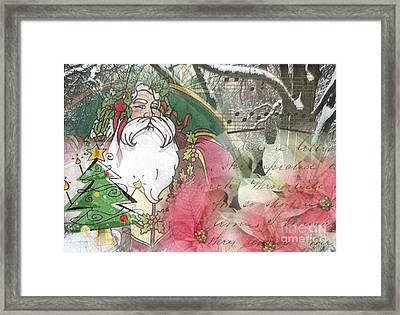 Santa's Snow Garden Framed Print
