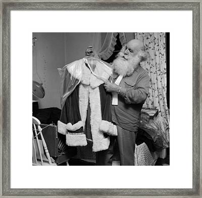 Santa's Suit Framed Print by Efield