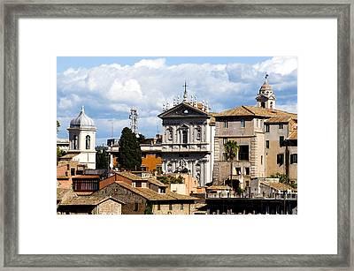 Santi Domenico E Sisto Framed Print by Fabrizio Troiani