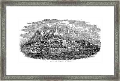 Santiago De Cuba, 1849 Framed Print