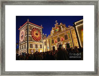 Santo Cristo Festivities Framed Print by Gaspar Avila