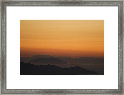 Santo Stefano Coastline At Sunset Framed Print by Axiom Photographic
