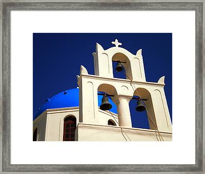 Framed Print featuring the photograph santorini Church Greee by Colette V Hera  Guggenheim