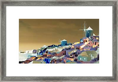 Santorini Framed Print by Ilias Athanasopoulos