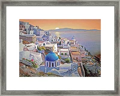 Santorini Sunrise Framed Print by Joseph Hendrix