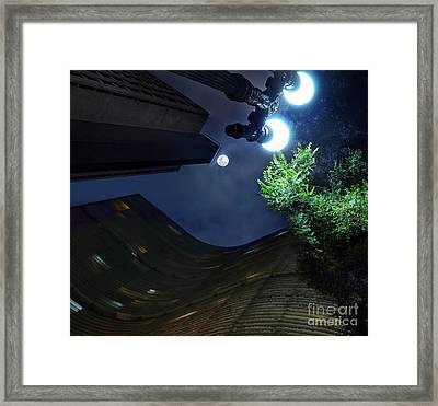Copan Building And The Moonlight Framed Print