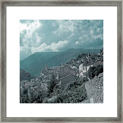 Saorge  Vallee Des Merveilles In Nice Hinterland Framed Print