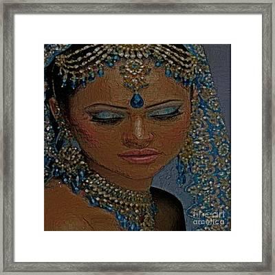 Saphire Goddess Framed Print by Liz Loz