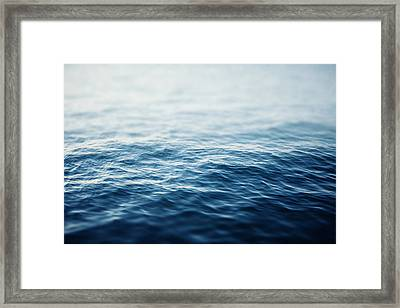 Sapphire Waters Framed Print by Lisa Russo