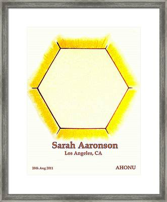 Sarah Aaronson Framed Print