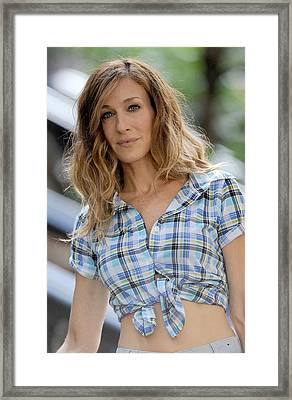 Sarah Jessica Parker On Location Framed Print