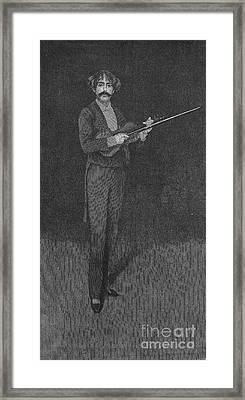 Sarasate Y Navascues Framed Print by Granger