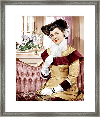 Saratoga Trunk, Ingrid Bergman, 1945 Framed Print