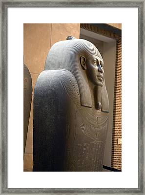 Sarcophagus Of Ahmes Framed Print by Colin Cuthbert