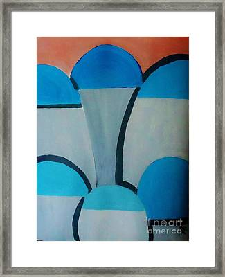 Sardinia Greece An Abstract Framed Print by Marie Bulger
