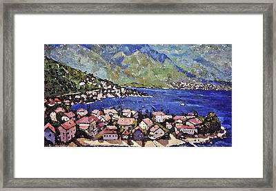 Framed Print featuring the painting Sardinia On The Blue Mediterranean Sea by Rita Brown