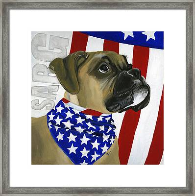 Sarg Framed Print by Debbie Brown