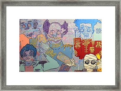 Sargent Pepper And His Special Guest Framed Print by Derrick Lee