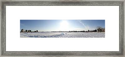 Sarnia Bay In Winter Framed Print