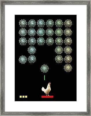 Sars Virus, Conceptual Artwork Framed Print