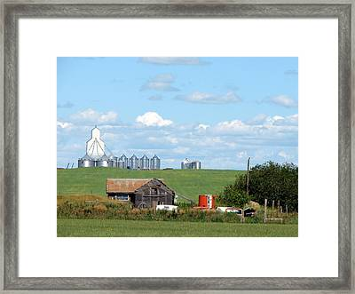 Saskatchewan Farms Old And New Framed Print