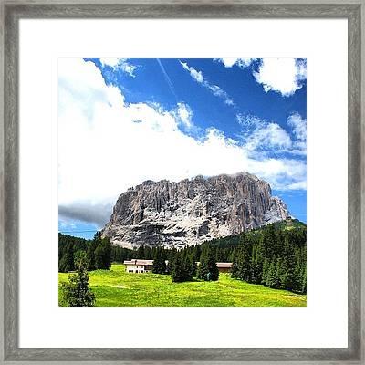 Sasso Lungo Framed Print