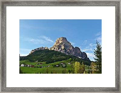 Framed Print featuring the photograph Sassongher Tirol Northern Italy by Charles Lupica