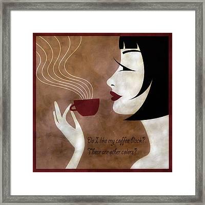 Sassy Colors Framed Print by Angelina Vick