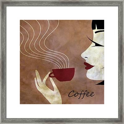 Sassy Lady Coffee Framed Print by Angelina Vick