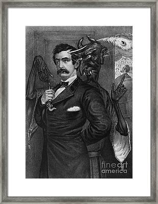 Satan Tempting John Wilkes Booth Framed Print