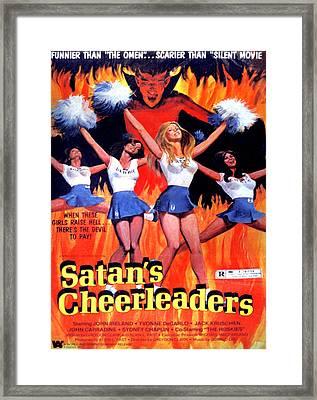 Satans Cheerleaders, 1977 Framed Print