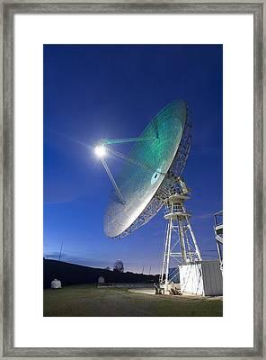 Satellite Tracking Antenna Dish Framed Print by Everett