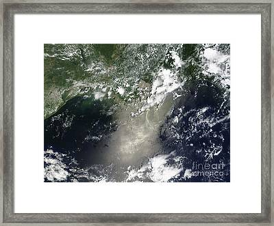 Satellite View Of Streaks And Ribbons Framed Print by Stocktrek Images
